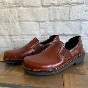 NAOT Brown Leather Slip on Shoes Loafers